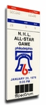 1976 NHL All-Star Game Canvas Mega Ticket, Flyers Host - MVP Mahovlich