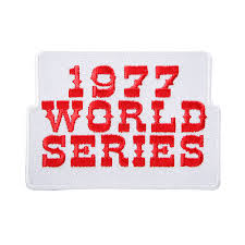 1977 World Series Embroidered Patch - New York Yankees vs Los Angeles Dodgers