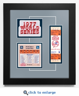 1977 World Series Replica Ticket & Patch Frame - New York Yankees