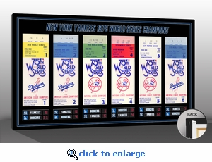 1978 World Series Tickets To History Canvas Print - New York Yankees