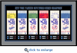 1978 World Series Tickets to History Framed Print - New York Yankees
