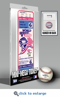 1980 World Series Mini-Mega Ticket - Philadelphia Phillies