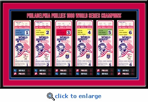 1980 World Series Tickets to History Framed Print - Philadelphia Phillies