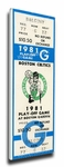 1981 NBA World Championship Canvas Mega Ticket - Boston Celtics