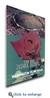 1981 Rose Bowl Program Cover on Canvas - Michigan Wolverines