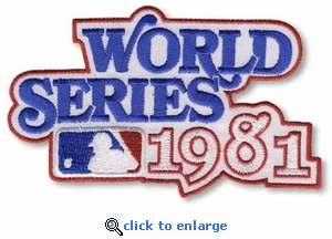 1981 World Series Embroidered Patch - Los Angeles Dodgers vs New York Yankees