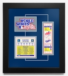 1981 World Series Replica Ticket & Patch Frame - Los Angeles Dodgers