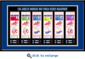 1981 World Series Tickets to History Framed Print - Los Angeles Dodgers