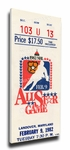1982 NHL All-Star Game Canvas Mega Ticket, Capitals Host - MVP Mike Bossy