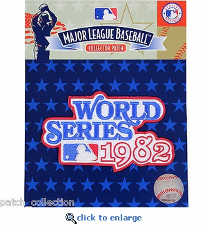 1982 World Series Embroidered Patch - St Louis Cardinals vs Milwaukee Brewers