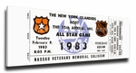 1983 NHL All-Star Game Canvas Mega Ticket, Islanders Host - MVP Gretzky