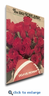 1983 Rose Bowl Program Cover on Canvas - UCLA Bruins