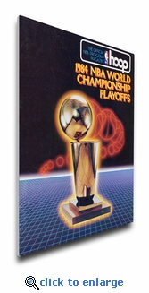 1984 NBA Finals Program Cover on Canvas - Boston Celtics