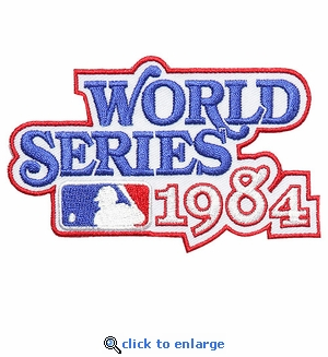 1984 World Series Embroidered Patch - Detroit Tigers vs San Diego Padres
