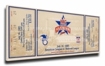 1985 MLB All-Star Game Canvas Mega Ticket, Twins Host - MVP Lamarr Hoyt, Padres