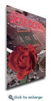 1985 Rose Bowl Program Cover on Canvas - USC Trojans