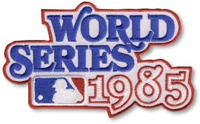 1985 World Series Embroidered Patch - Kansas City Royals vs St Louis Cardinals