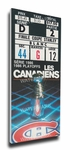 1986 NHL Stanley Cup Finals Canvas Mega Ticket - Montreal Canadiens