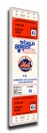 1986 World Series Game 6 Canvas Mega Ticket - New York Mets