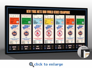 1986 World Series Tickets To History Canvas Print - New York Mets