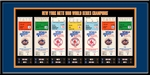 1986 World Series Tickets to History Framed Print - New York Mets