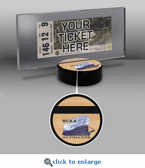 1987 NCAA Basketball Finals Ticket Display Stand - Indiana Hoosiers