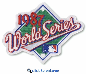 1987 World Series Embroidered Patch - Minnesota Twins vs St Louis Cardinals