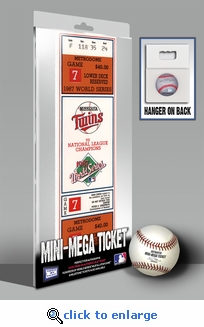 1987 World Series Mini-Mega Ticket - Minnesota Twins