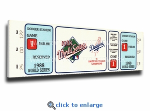 1988 World Series Canvas Mega Ticket - Los Angeles Dodgers