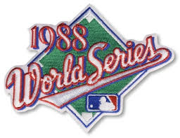 1988 World Series Embroidered Patch - Los Angeles Dodgers vs Oakland Athletics