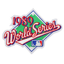 1989 World Series Embroidered Patch - Oakland Athletics vs San Francisco Giants