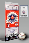 1990 MLB All-Star Game Mini-Mega Ticket, Cubs Host - MVP Julio Franco, Rangers