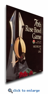 1990 Rose Bowl Program Cover on Canvas - USC Trojans