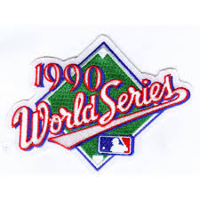 1990 World Series Embroidered Patch - Cincinnati Reds vs Oakland Athletics