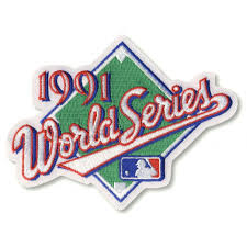 1991 World Series Embroidered Patch - Minnesota Twins vs Atlanta Braves