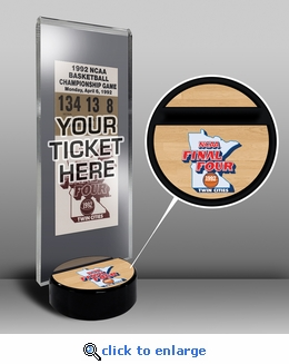 1992 Final Four Ticket Display Stand - Duke Blue Devils