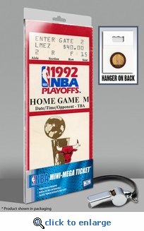 1992 NBA Finals Mini-Mega Ticket - Chicago Bulls
