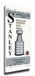 1992 NHL Stanley Cup Finals Commemorative Canvas Mega Ticket - Pittsburgh Penguins