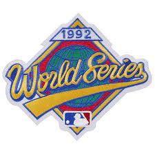 1992 World Series Embroidered Patch - Toronto Blue Jays vs Atlanta Braves