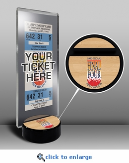 1993 Final Four Ticket Display Stand - North Carolina Tar heels