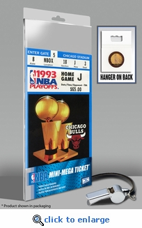 1993 NBA Finals Mini-Mega Ticket - Chicago Bulls