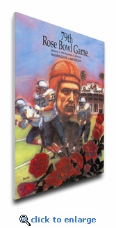1993 Rose Bowl Program Cover on Canvas - Michigan Wolverines