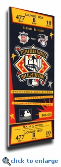 1994 MLB All-Star Game Canvas Mega Ticket, Pirates Host - MVP Fred McGriff, Braves