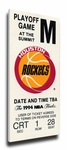 1994 NBA Finals Canvas Mega Ticket - Houston Rockets