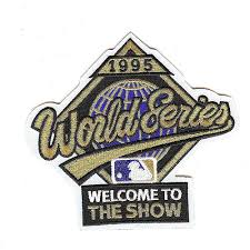 1995 World Series Embroidered Patch - Atlanta Braves vs Cleveland Indians