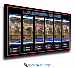 1995 World Series Tickets to History Canvas Print - Atlanta Braves