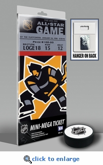 1996 NHL All-Star Game Mini-Mega Ticket, Bruins Host - MVP Bourque, Bruins