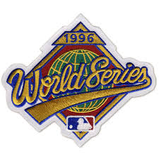 1996 World Series Embroidered Patch - New York Yankees vs Atlanta Braves