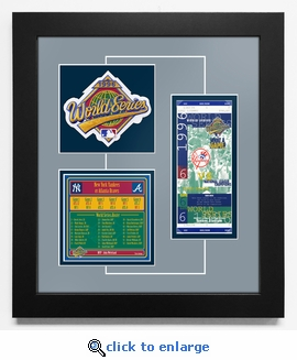 1996 World Series Replica Ticket & Patch Frame - New York Yankees