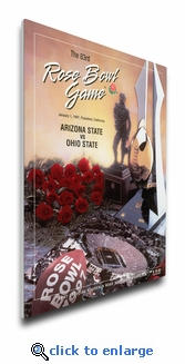 1997 Rose Bowl Program Cover on Canvas - Ohio State Buckeyes